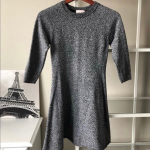 Aritzia Sunday's Best Grey Knit 3/4 Sleeve Dress